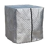 IBC Tank Abdeckung Verdicken IBC Cover UV-Schutz Folie Wassertank Abdeckplane 1000 L, Schutzhaube Schutzhülle Mit Isolierung Baumwolle Für IBC-Tank Regenwassertank Container Behälter (116x100x120cm)