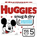 Huggies Snug & Dry Baby Diapers, Size 5, 156 Ct, One Month Supply
