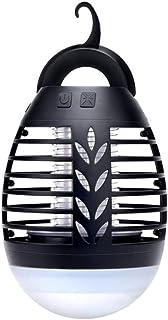 JUNGEN Lámpara Antimosquitos Eléctrico IP67 Impermeable 2 en 1 Linterna de Camping LED Repelente Moscas Polillas Mosquitos Insectos con 2200mAh Recargable USB para Jardín Cocina Hogar