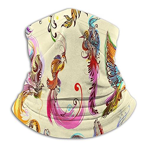 Más cálido cuello Polaina colorido pájaro águila Phoenix loro pavo real máscara para hombres mujeres bandanas para pesca caza deportes