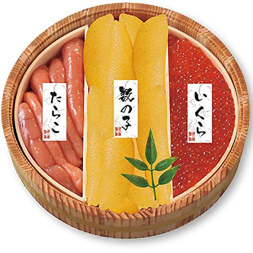 カネサン佐藤水産 北の魚卵木樽詰3点セット 北海道 いくら イクラ たらこ 数の子 お取り寄せ