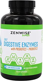 Zenwise Health Digestive Enzymes Plus Prebiotics & Probiotics - Natural Support for Better Digestion & Lactose Absorption ...