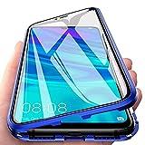 Coque pour Huawei P Smart Z, Adsorption Magnétique Coque Avant et Arrière Verre Trempé Case Cover...