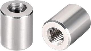 uxcell ラウンドカップリングナット スリーブロッドバースタッドナット 304ステンレス鋼 高さM4x10mm 10個入り