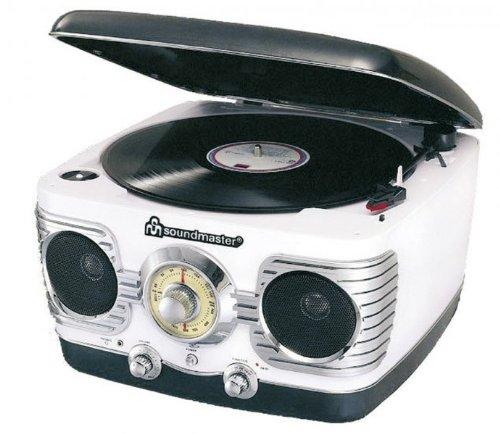 Soundmaster NR 486 nostalgische stereo-installatie met radio en platenspeler
