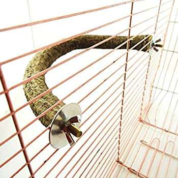 JIACUO Perche à Oiseaux en Bois Naturel Support en Forme de U pour Animaux de Compagnie Pied de Perroquet broyage Accessoires de Cage à Oiseaux