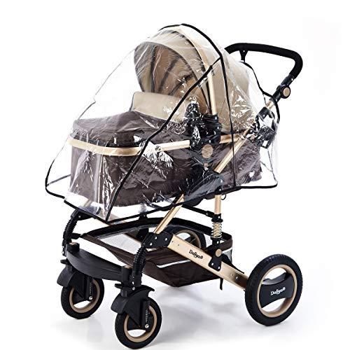 Daliya® Regenschutz, Regenverdeck, für Kinderwagen Buggy Bambimo oder Universal