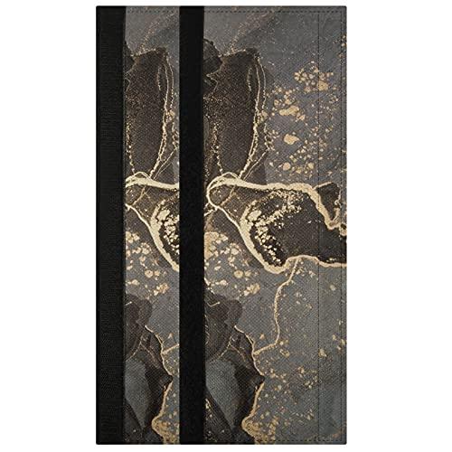 Oarencol Juego de 2 fundas para manija de puerta, diseño de piedra de mármol negro Gary Glod para nevera, horno y lavavajillas