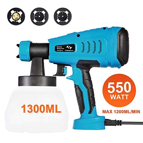 Paint Sprayer, Tilswall 550 Watt HVLP Electric Spray Gun Power Painter...