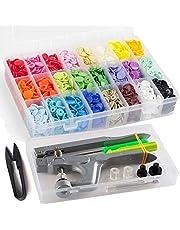 Kam Drukknopen met snaptang, 360 set T5 Kam drukknop in 24 kleuren voor doe-het-zelven
