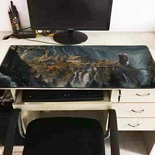 Gaming Mauspad Große Mauspad Herr der Ringe Tastatur Mat Table Mat Erweiterte Mousepad for Computer PC-Mausunterlage (Color : 900x300x3mm)