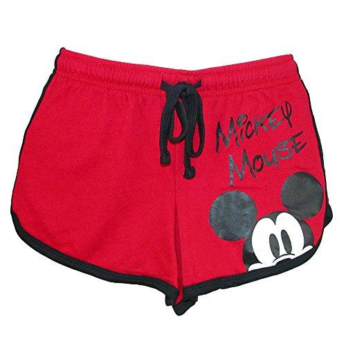 Disney Junior Ladies Mickey Mouse Peeking Short Red Medium
