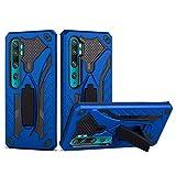 Grandcaser Étui pour Mi Note 10 Ultra-Mince Double Couche 2in1 Dur PC TPU Souple Antichoc avec...