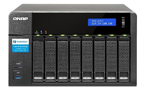 QNAP TVS-871T-i7-16G NAS Desktop 8Bay Intel Core i7-4790S 3.2 GHz Quad Core 16GB DDR3 SATA 6Gb/s 4xGbE LAN 2x10GbE 2xThunderboltxxxx