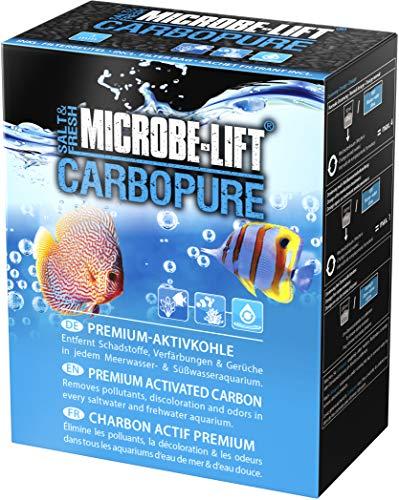 MICROBE-LIFT Carbopure - Carbón activo para filtrar agua amarilla, medicamentos, toxinas en el acuario, 1000 ml/486 g