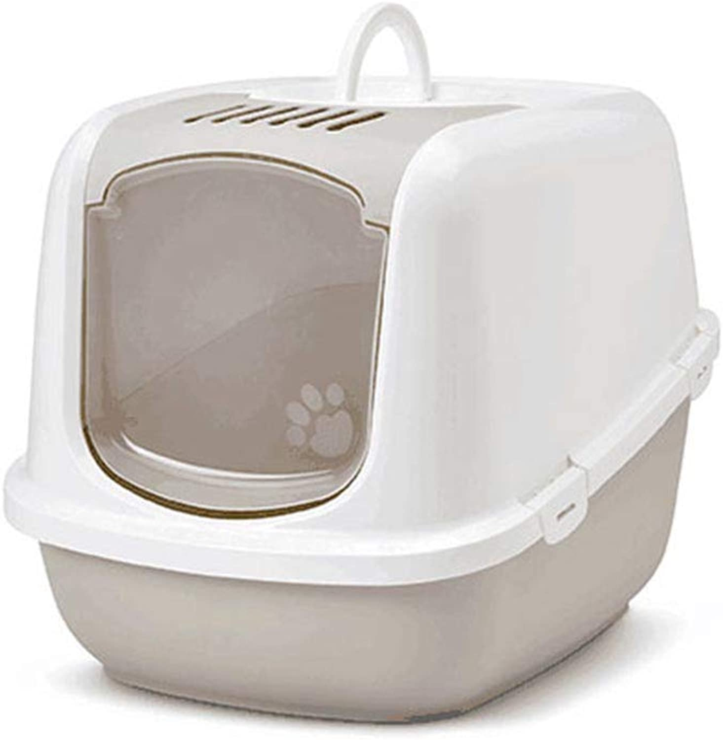 Cat Litter Box, Pet Toilet, Pet Washroom Fully Enclosed Extra Large Litter Boxes, Cat Pot Splash Prevention, Deodorization, Pet Potty Cat Sand Pot Cat Supplies,Brown