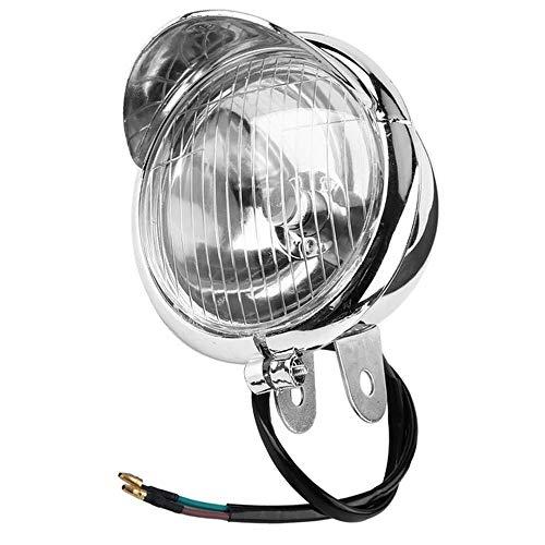 QOHFLD 12V Light Universal Chrome Color Lights Scheinwerfer ABS Motorrad Nebelscheinwerfer Scheinwerferlampe Für Motorradlampen Zubehör