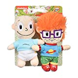Nickelodeon Rugrats Tommy and Chuckie Figure Plush Figure Dog Toys | 6 Inch Baby Nickelodeon Toys - 2 Rugrats Toys for Dogs from Nickelodeon 90s | Nickelodeon Small Plush Toys for Dogs