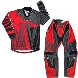 Wulf Sport Cub Ventuno Kids Race Motocross Suit Moto ATV Quad Bike MX Sport Shirts Pantalones rojos: camisa (11-13 años) Pantalones: cintura de 26 pulgadas