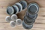 Camping Geschirrset für 4 Personen Grau aus Melamin Picknick Geschirr Campinggeschirr Tafelgeschirr - 5