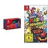 Nintendo Switch Mario Red & Blue Edition + Super Mario 3D World - Bowser's Fury [Nintendo Switch]