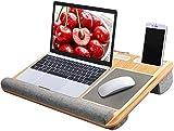 HUANUO Laptopunterlage für Bett mit Mausunterlage & Handgelenkauflage, Laptop Kissen...