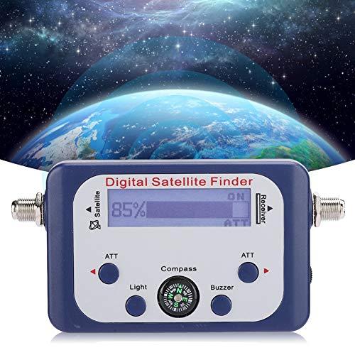 143 Cercatore satellitare Portatile Leggero Amplificatore Integrato Misuratore di Ricerca del Segnale Digitale con Schermo LCD