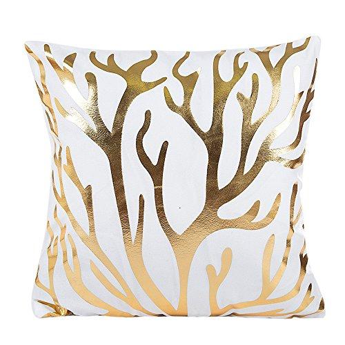 Frashing Kissenbezug Kissenhülle Weiß Silber Sofa Dekokissen Moderne Wohnzimmer Dekoration Ananas drucken Sofakissenbezug 45x45 cm Kissenbezug für Festliche
