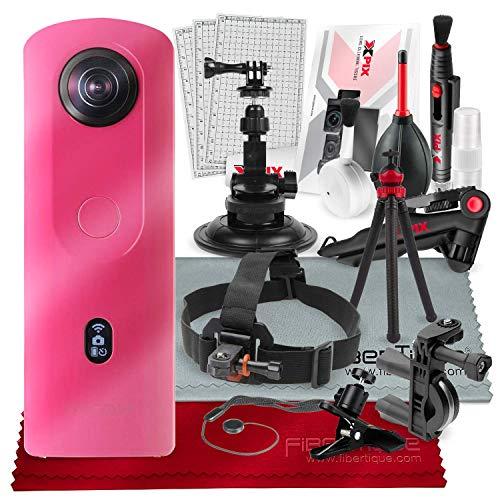 Ricoh Theta SC2 Digital Camera, 4K, 360-degree, Spherical, Compact, Pink, 910801