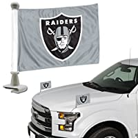 FANMATS ProMark NFL Oakland Raiders Flag Set 2-Piece Ambassador Style, Team Color, One Size