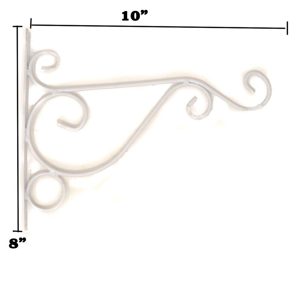 ganchos curvados para plantas Juego de 10 ganchos para colgar cestas de hierro para colgar en la pared comederos de p/ájaros linternas