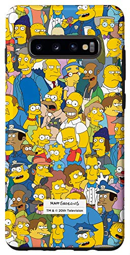Galaxy S10+ The Simpsons Springfield Characters Print Case