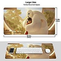 Baymax マウスパッド 光学マウス対応 パソコン 周辺機器 超大型 防水 洗える 滑り止め 高級感 耐久性が良いOne Size