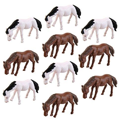 Lot de 10pcs Cheval Miniature Décor pour Micro Paysage Bonsaï DIY Bricolage