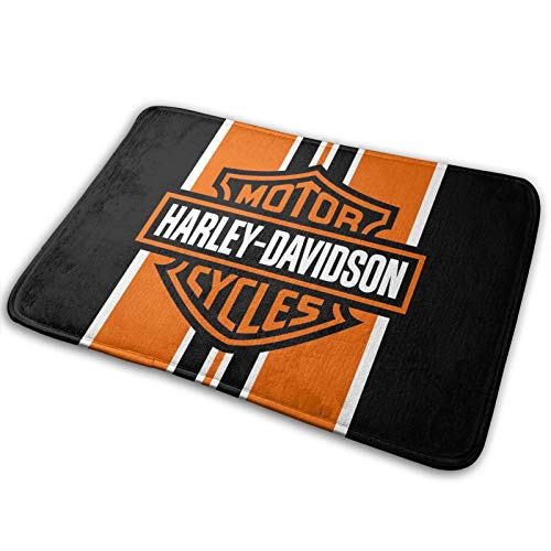 Harley Davidson Memory Foam Bagno Tappeto e Zerbino Antiscivolo Assorbente Super Bath Mats Confortevole Flanella Bagno Tappeto Letto 60x40 cm