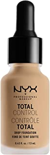 NYX PROFESSIONAL MAKEUP Total Control Drop Foundation, Nude, 0.43 Fluid Ounce