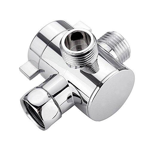 Válvula de desvío de ducha de 3 vías Desviador de ducha de múltiples funciones Sistema de ducha Descomponente Pieza de repuesto para cabezal de ducha manual y cabezal de rociado fijo Adaptador de inte