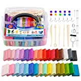 32 Colors Polymer Clay Starter Kit, QMayer Oven Bake Clay 0.7oz/Block Soft Modeling Clay Non-Toxic DIY Craft Clay with Sculpting Tools for Boys Girls, Kids Gifts (1.94LB)