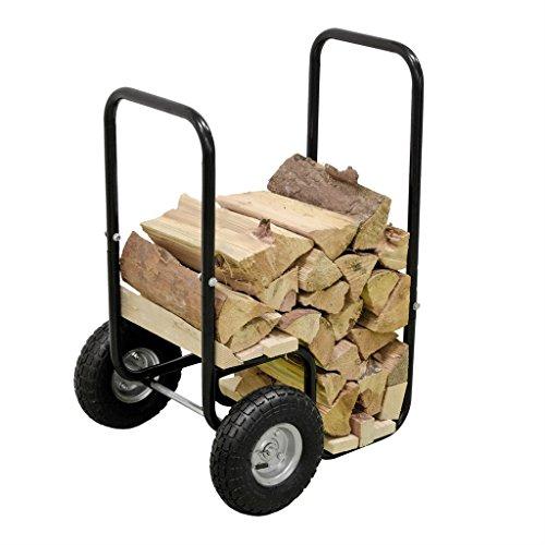 Georges Panier roulant pour bûches à bois de chauffage