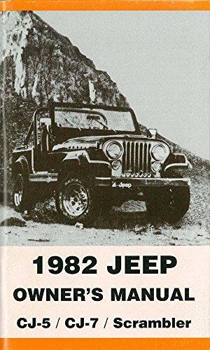 bishko automotive literature 1982 Jeep Cj-5, Cj-7 & Scrambler Owners Manual User Guide Operator Book