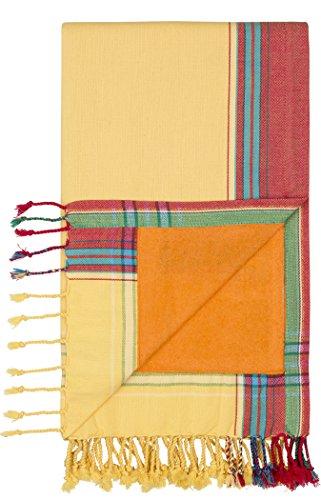 Kikoy Factory - Toalla de playa/Pareo - Toalla de baño - Kikoy Towel 13226V1 - Color : Sun - Tamaño : 95 x 165 cms