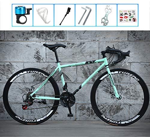 WMWJDQ 28 Zoll Mountainbike, Cyclocross Fahrrad, Rahmen aus Kohlenstoffstahl, Großer Reifen Vollfederung Mountain Bike,Cross Rennrad für Damen und Herren/B