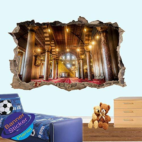 Yxsnow 3D Pegatinas de pared Estrella de cine Extraíble Agujero en la pared Vinilo Decorativo Pegatinas Vista de Efecto Adhesivos De Pared
