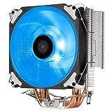 Silverstone SST-AR12-RGB - Disipador para CPU Argon con 4 Tubos isotérmicos de Contacto Directo, Ventilador PWM RGB de 120 mm