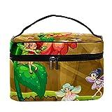 Huevo de Pascua con figuras, decoración de viaje, bolsa de cosméticos, bolsa de aseo (L x W x H) 8.9 x 5.4 pulgadas bolso de embrague bolsa de cosméticos