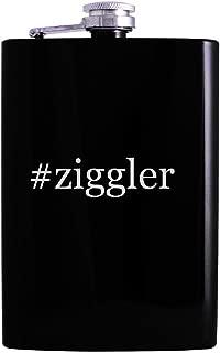 #ziggler - 8oz Hashtag Hip Alcohol Drinking Flask, Black