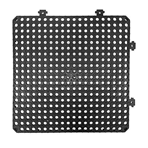 Pamex LOSETA Desmontable PLATAKI 30X30 CM - 12 Unidades +1M² Metro Cuadrado (Negro)