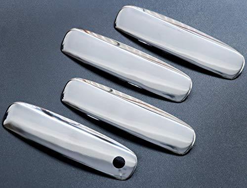 Tiradores de puerta Cromados para A6 C6 A3 8P Facelift EXEO Acero inoxidable Manija de puertas Manillas Exterior Manetas Cromadas