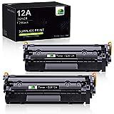 JARBO Q2612A Cartuchos de tóner Compatible para HP 12A (Q2612A) para HP LaserJet 1010 1012 1015 1018 1020 1022 1022n 1022nw 3015 3020 3030 3050 3052 3055 M1005 M1319 M1319f, 2 de Negro