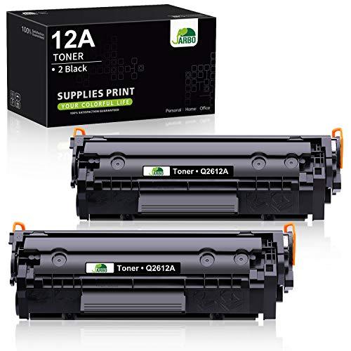 JARBO Q2612A Toner Compatibile per HP 12A (Q2612A) per HP LaserJet 1010 1012 1015 1018 1020 1022 1022n 1022nw 3015 3020 3030 3050 3052 3055 M1005 M1319 M1319f, Nero, Confezione da 2
